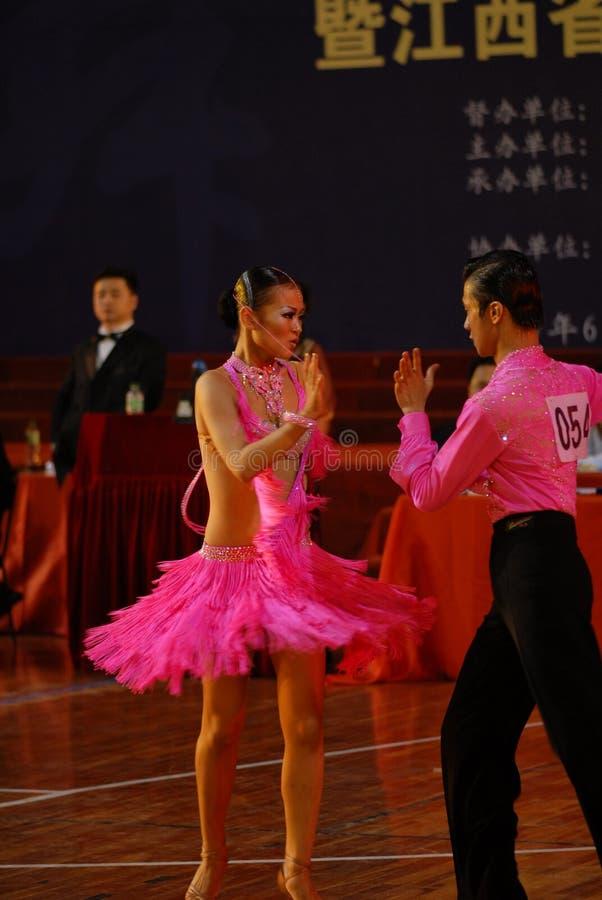Pequeño nacional de la danza del estándar internacional de tensión-China Nanchang abierto imagenes de archivo