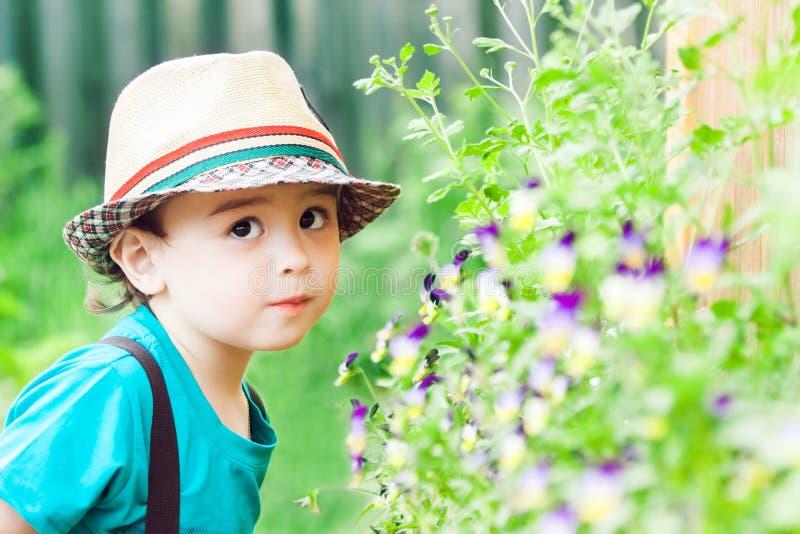 Pequeño niño lindo foto de archivo