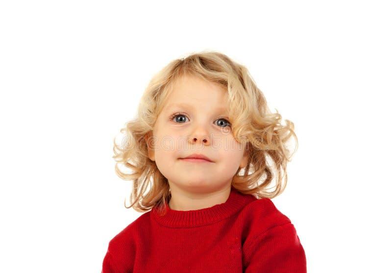 Pequeño niño rubio con cuatro años imágenes de archivo libres de regalías