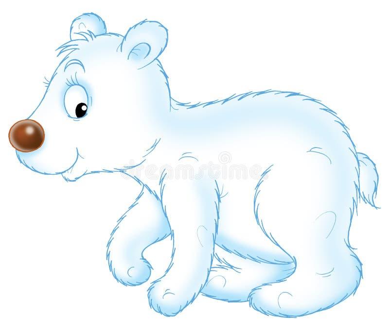Pequeño oso blanco ilustración del vector
