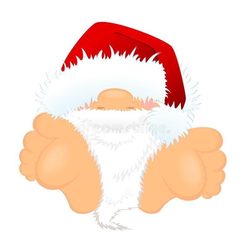Pequeño Papá Noel agradable ilustración del vector