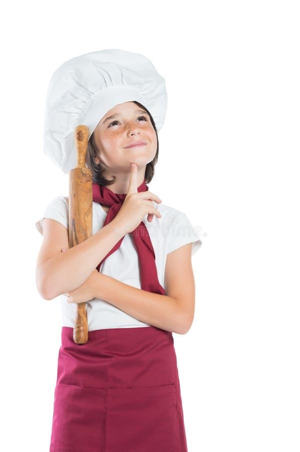 Pequeño pensamiento del cocinero fotografía de archivo