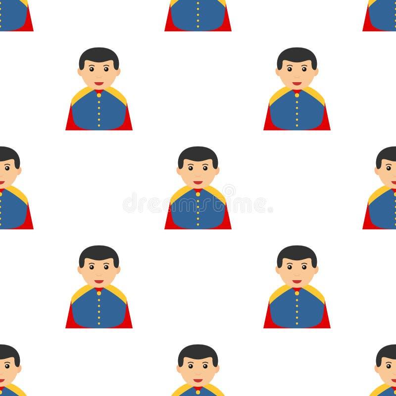 Pequeño príncipe Charming Avatar Seamless stock de ilustración