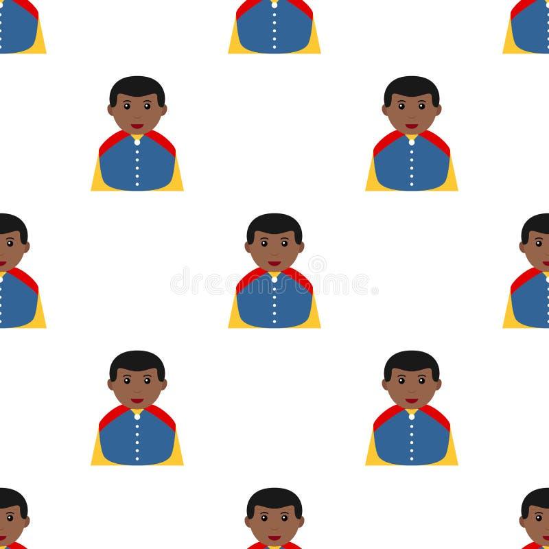 Pequeño príncipe negro Charming Icon Seamless ilustración del vector