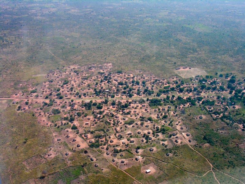 Pequeño pueblo, cerca de Pweto, Katanga, el República del Congo Democratic fotografía de archivo