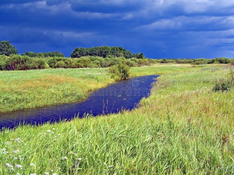 Download Pequeño río en campo imagen de archivo. Imagen de campo - 7151433