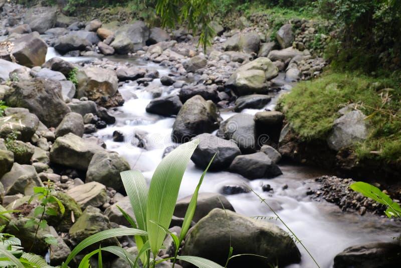 Pequeño río en Indonesia imagen de archivo libre de regalías