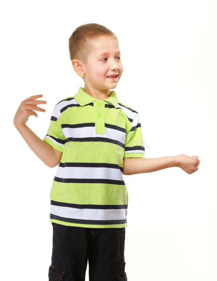 Pequeño retrato feliz del preescolar del muchacho fotos de archivo libres de regalías