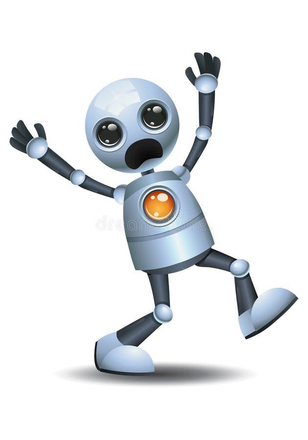 pequeño robot que grita hacia fuera ruidosamente stock de ilustración