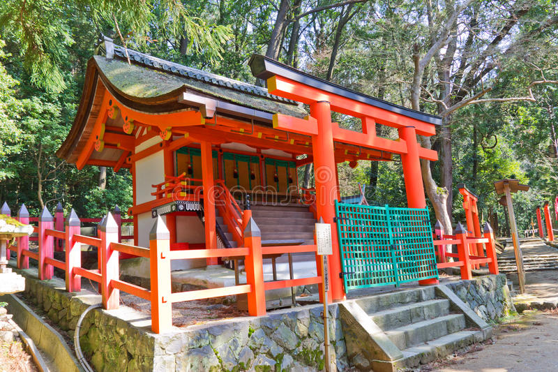 Pequeño santuario en la capilla magnífica de Kasuga Nara, Japón foto de archivo libre de regalías