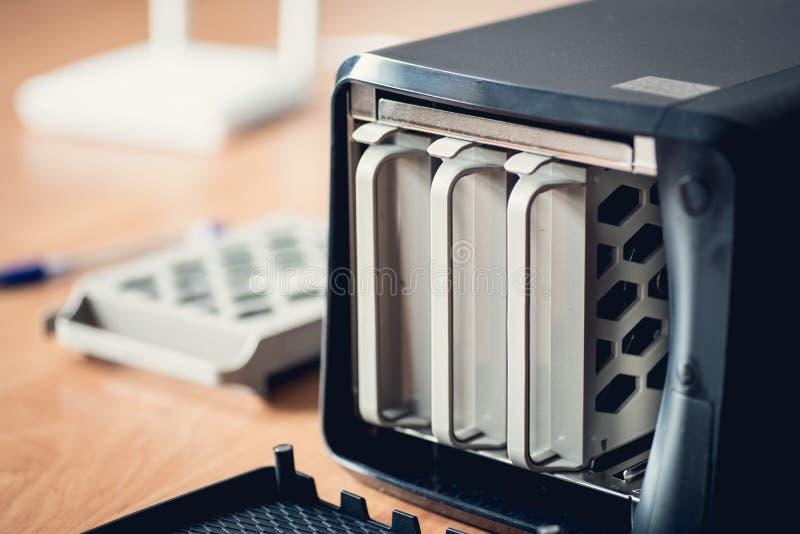 Pequeño servidor de la NAS foto de archivo libre de regalías