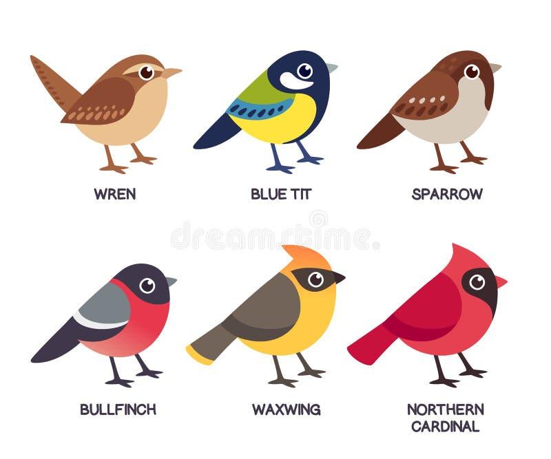 Pequeño sistema de los pájaros stock de ilustración