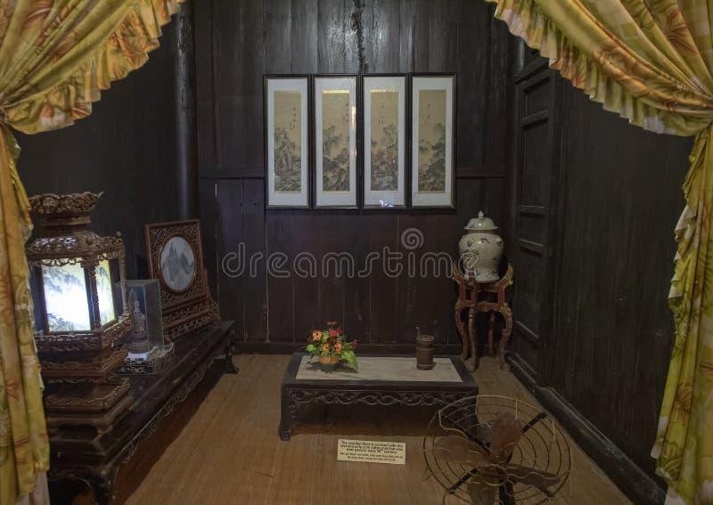 Pequeño sitio en Tan Ky Merchant House, Hoi An, Vietnam imágenes de archivo libres de regalías