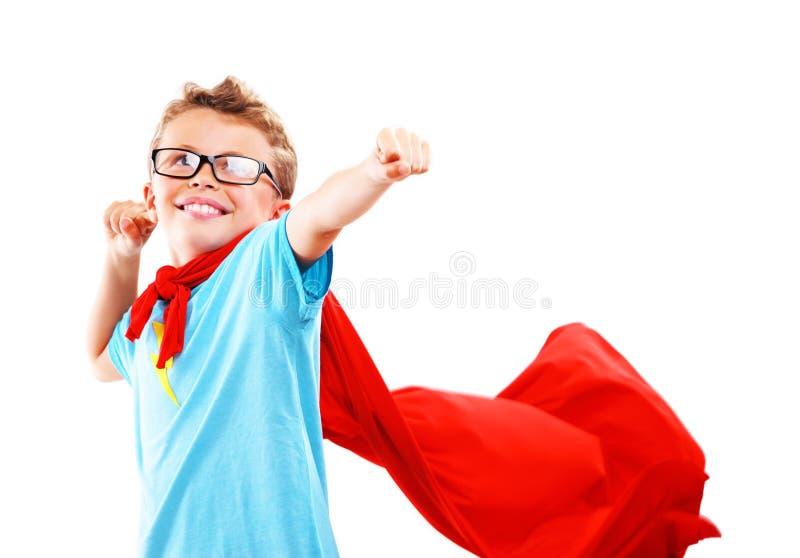Pequeño super héroe imagenes de archivo