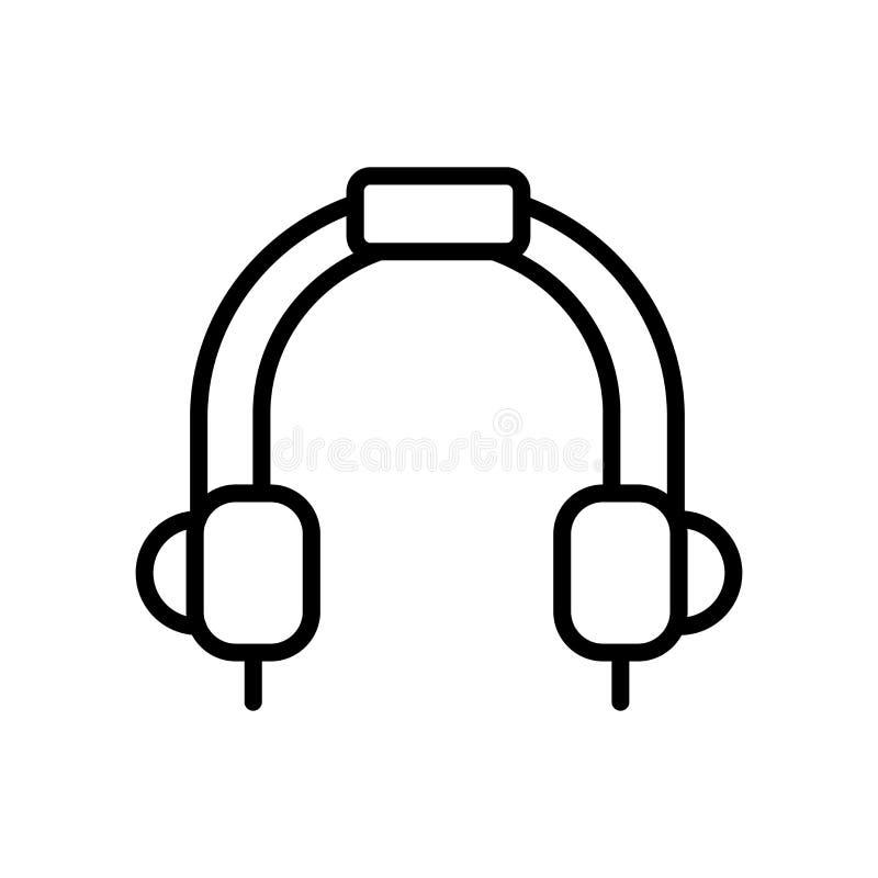 Pequeño vector del icono del auricular aislado en el fondo blanco, pequeño stock de ilustración