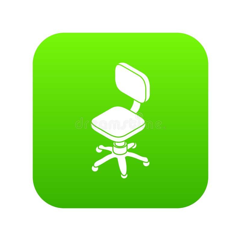 Pequeño vector del verde del icono de la silla de rueda ilustración del vector