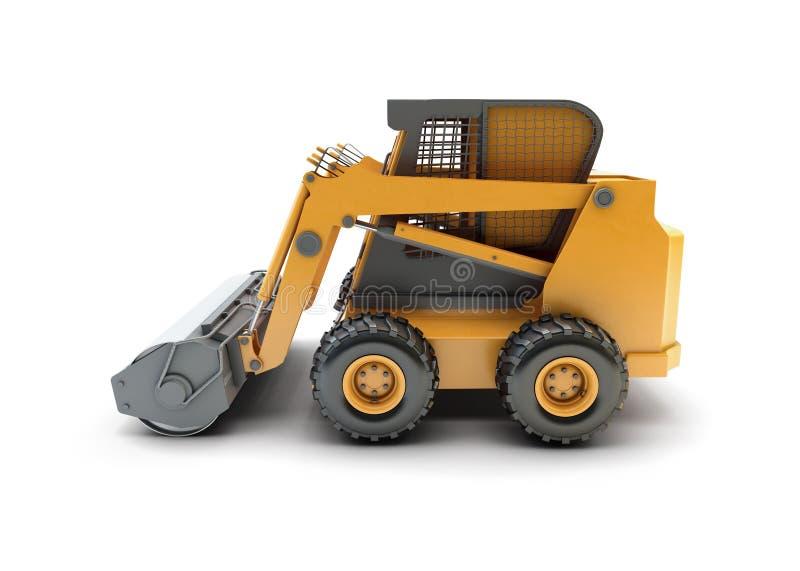Pequeño vehículo utilitario de la construcción aislado stock de ilustración
