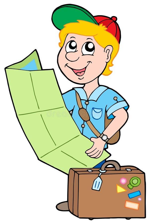 Pequeño viajero stock de ilustración