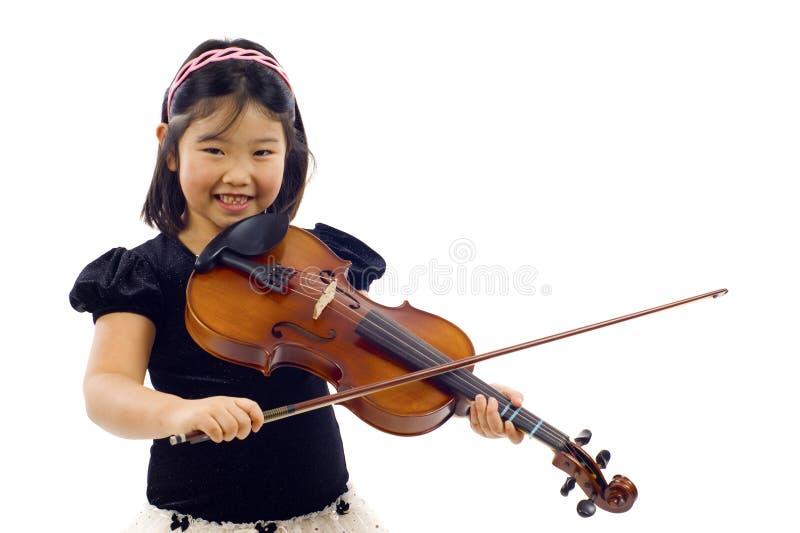 Pequeño violinista fotografía de archivo