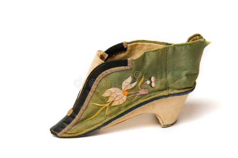 Pequeño zapato chino de la señora foto de archivo libre de regalías