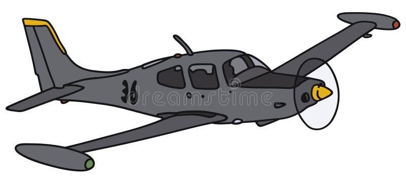 Pequeños aviones del reloj stock de ilustración