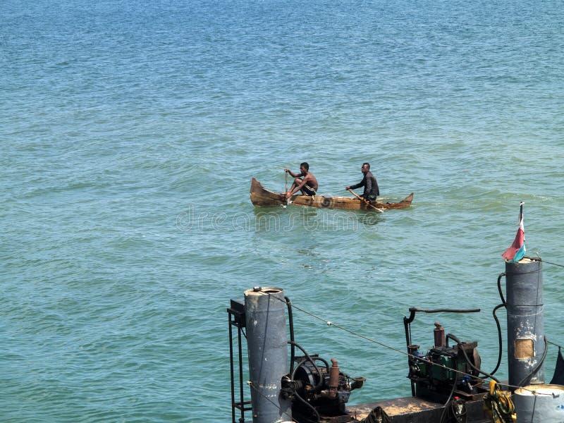 pequeños barcos de pesca en la bahía oagascar, foto de archivo libre de regalías