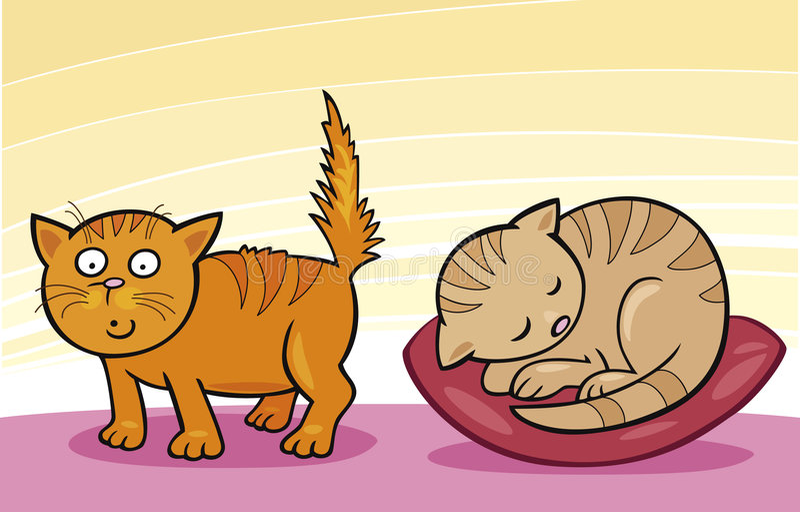Pequeños gatos lindos libre illustration
