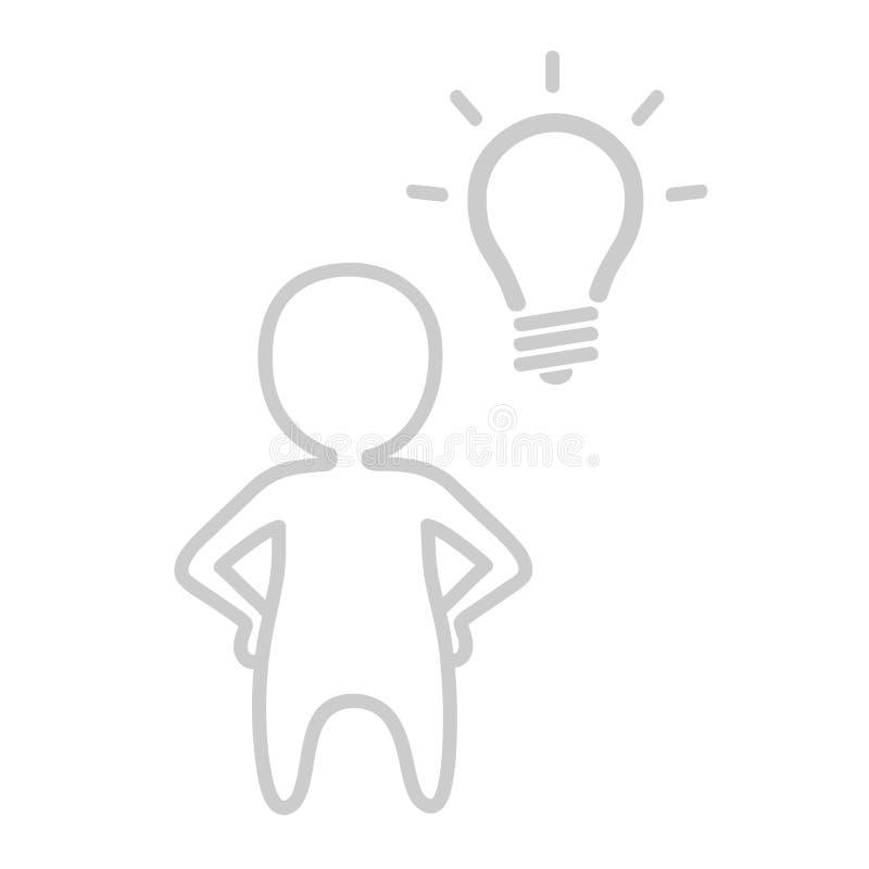 Pequeños gente y bulbo ilustración del vector
