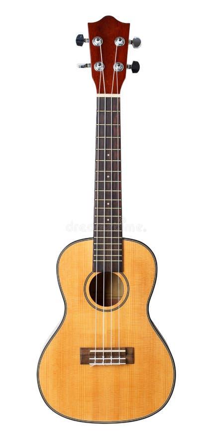 Pequeños guitarra atada del ukelele del Hawaiian cuatro fotografía de archivo