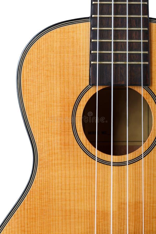 Pequeños guitarra atada del ukelele del Hawaiian cuatro imagen de archivo libre de regalías