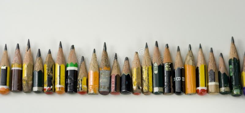 Pequeños lápices coloreados imagen de archivo libre de regalías