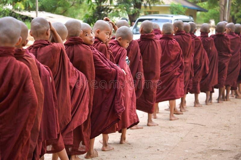 Pequeños monjes que miran la cámara imágenes de archivo libres de regalías