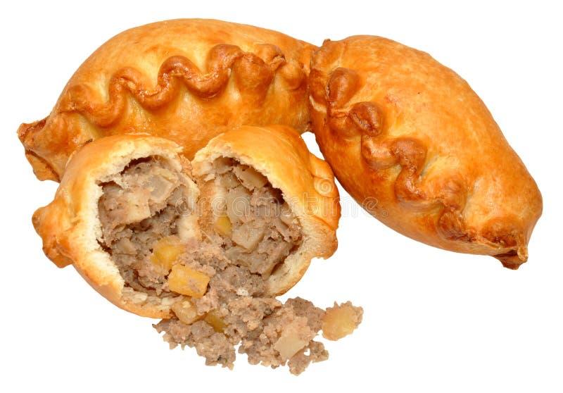 Pequeños pasteles de Cornualles imagen de archivo
