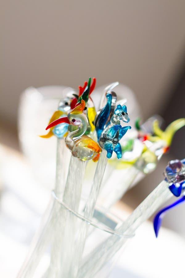 Pequeños pedazos de cristal de la demostración fotografía de archivo libre de regalías