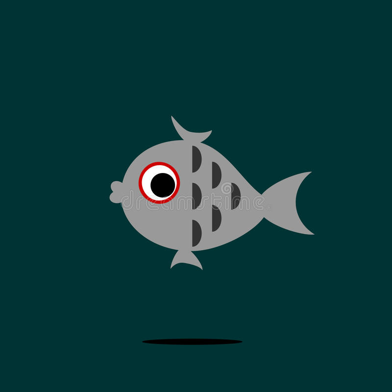 Pequeños pescados grises foto de archivo libre de regalías