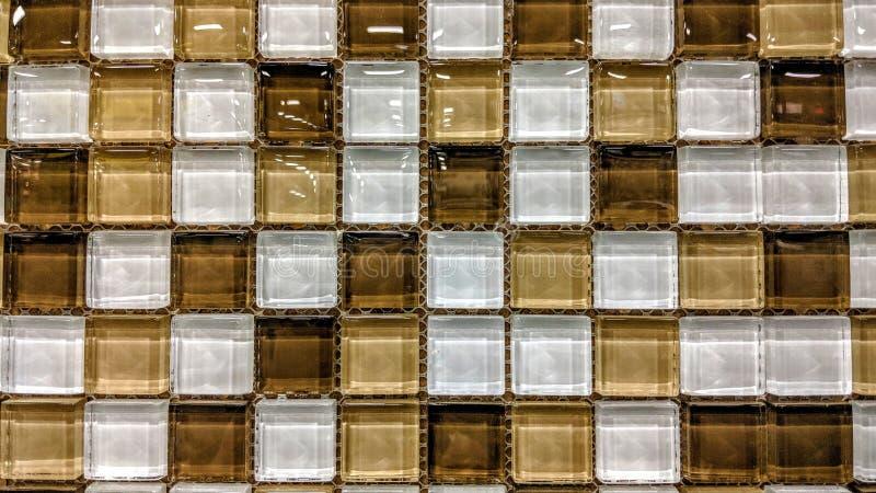 Pequeños vidrios de las tejas ilustración del vector