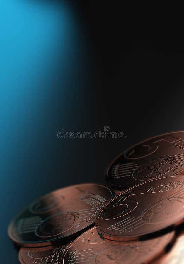 Pequena alteração, centavos de Euro ilustração stock