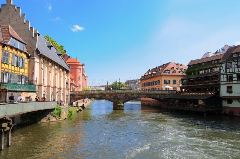 Pequeno área de France em Strasbourg fotos de stock