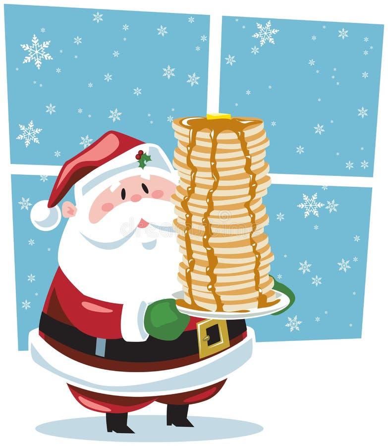 Pequeno almoço com Santa ilustração royalty free