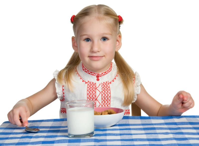 Pequeno almoço da criança imagens de stock royalty free