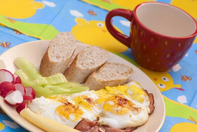 Presunto saboroso e ovos fotografia de stock royalty free