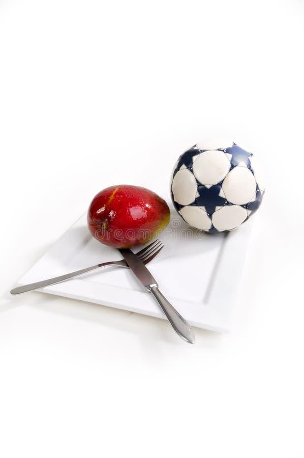 Pequeno almoço do futebol imagens de stock royalty free