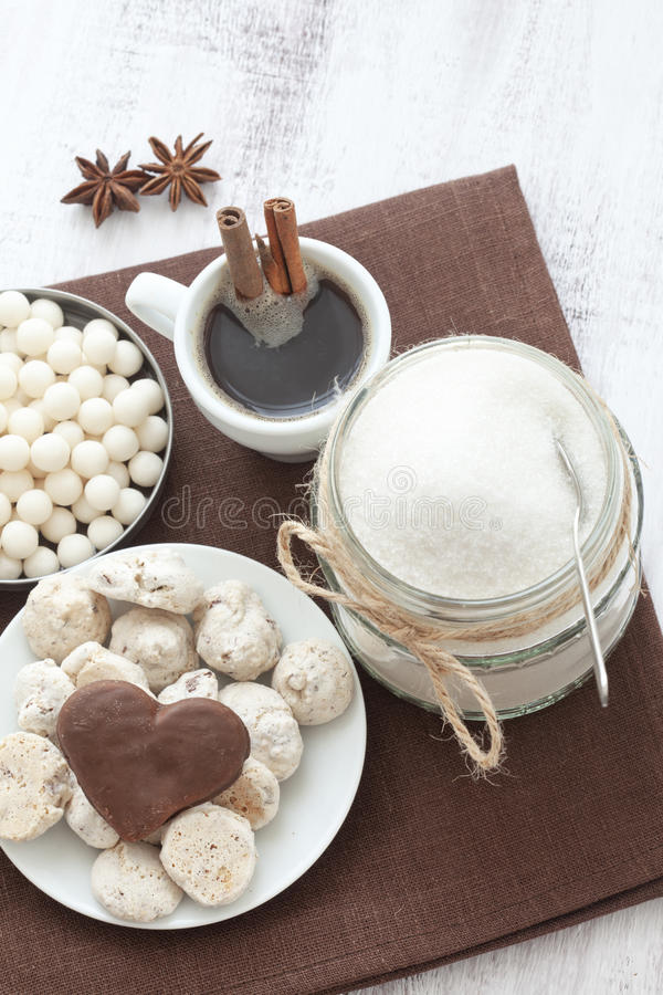 Coffe e doces foto de stock royalty free
