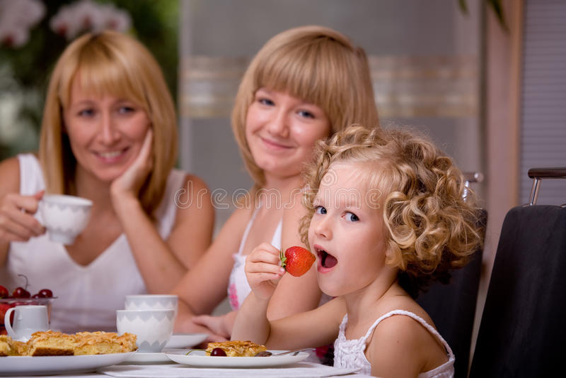 Pequeno almoço em casa fotos de stock royalty free