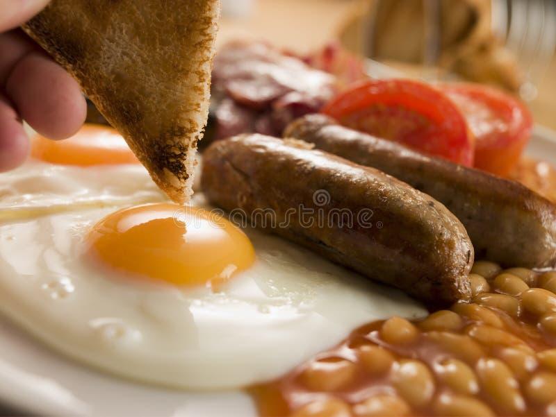 Pequeno almoço inglês cheio foto de stock