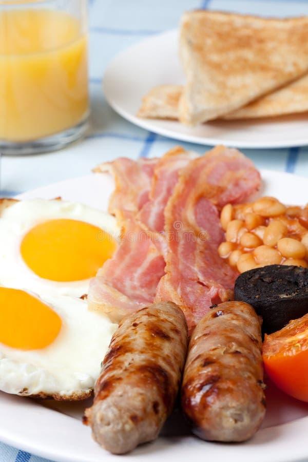 Pequeno almoço inglês cheio tradicional fotografia de stock royalty free
