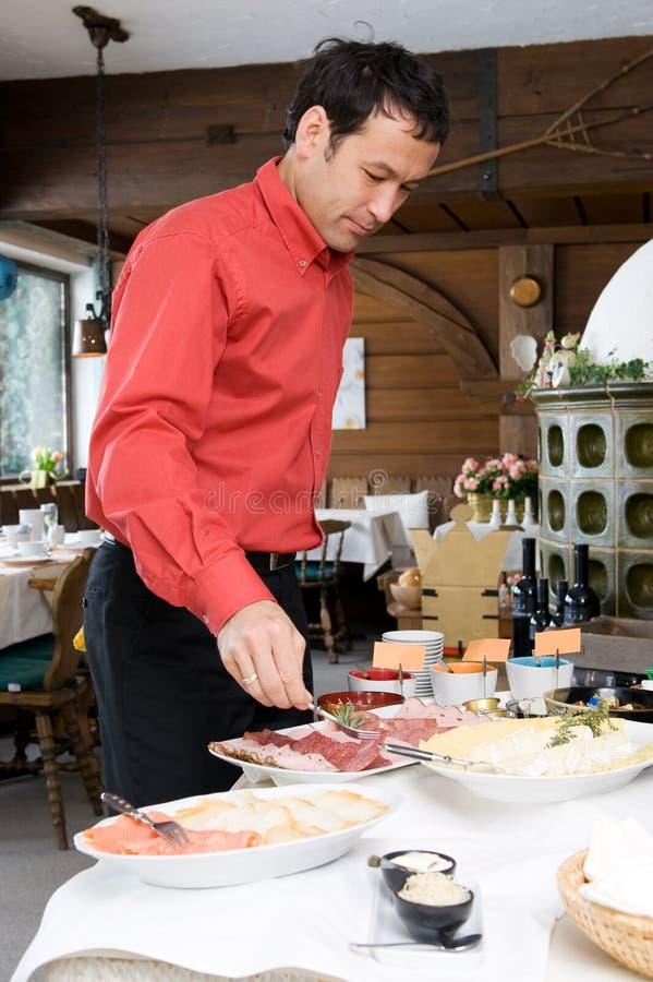 Pequeno almoço no hotel imagens de stock royalty free