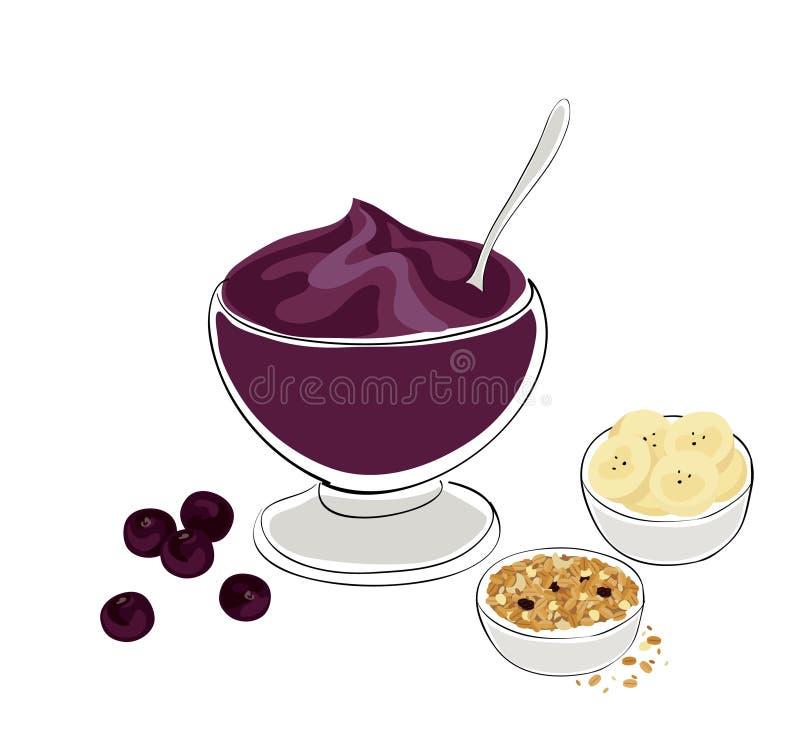 Pequeno almoço saudável ilustração royalty free