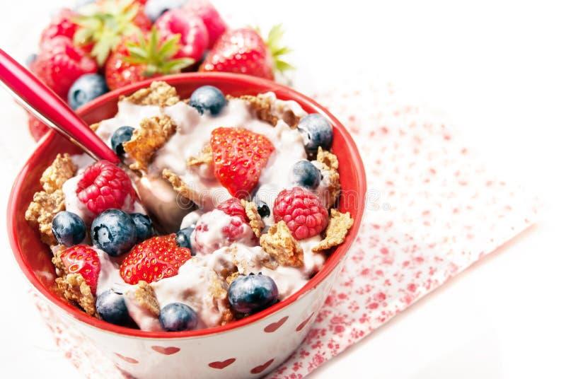Pequeno almoço saudável do cereal imagem de stock