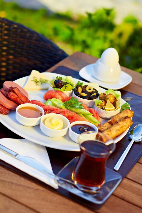 Pequeno almoço turco imagem de stock royalty free